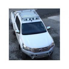 Экспедиционный багажник Rival для Toyota Hilux Revo 2015-, алюминий (серый)