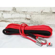Трос для лебёдки синтетический 5,5 мм 15 м (красный)