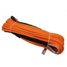 Синтетический трос для лебедок 28м х 12мм (оранжевый)