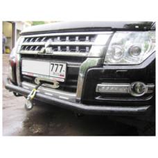 Защита переднего бампера для Mitsubishi Pajero IV (с 2006 по н.в.)