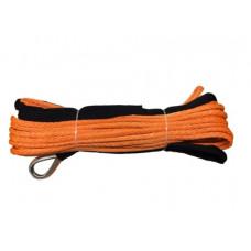 Синтетический трос для лебедок 28м х 10мм (оранжевый)