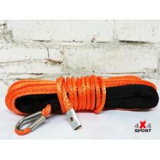 Трос для лебёдки синтетический 6 мм 15 м (Оранжевый)