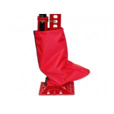 Защитный чехол на механизм домкрата типа Hi-Lift на молнии (красный)