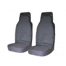 Комплект грязезащитных чехлов на передние сиденья (серый)