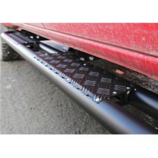 Силовые пороги Rival для Toyota Hilux Vigo 2011-2015, сталь (без крепежа)