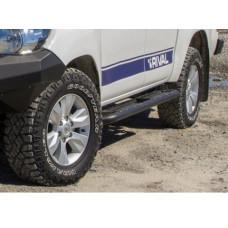Силовые пороги Rival для Toyota Hilux Revo 2015-, сталь (без крепежа)