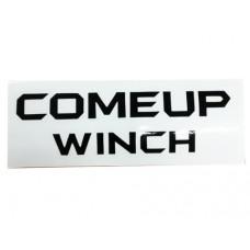 Наклейка COMEUP WINCH (черные буквы прозрачный фон) Размер: 200x58 мм
