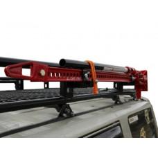 Крепление реечного домкрата Rival на экспедиционный багажник для UAZ Patriot 2008-