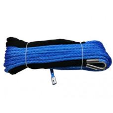 Синтетический трос для лебедок 28м х 12мм (синий)