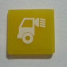 Пиктограмма на переключатель Hella cargo area желтая