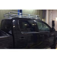 Экспедиционный багажник Rival для Toyota Hilux Vigo 2011-2015, алюминий (серый)